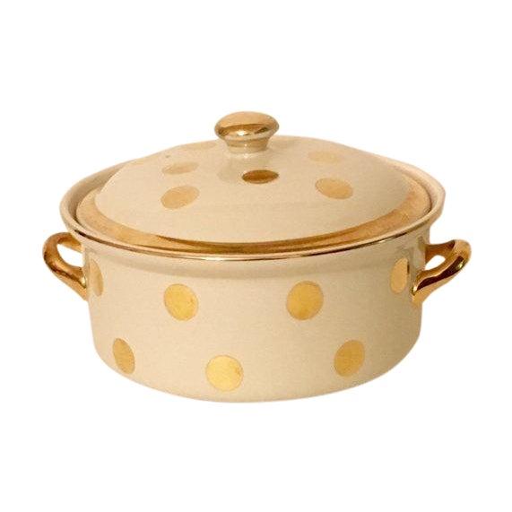 Image of Hall Gold Polkadot Dish