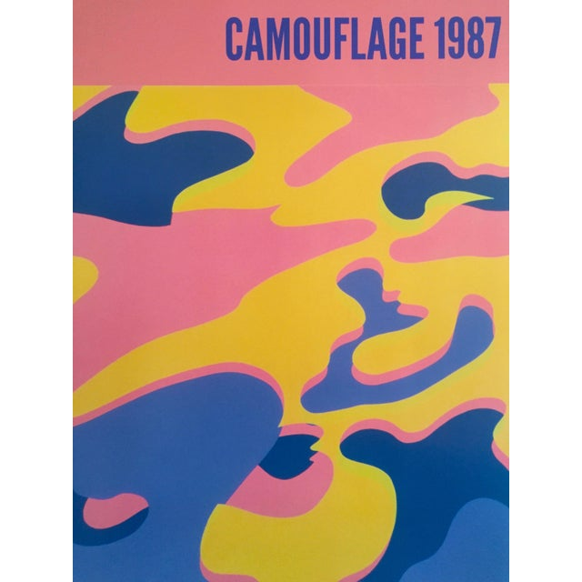 """Andy Warhol Original Lithograph Pop Art Poster """"Pink Camouflage"""" 1987 - Image 6 of 10"""