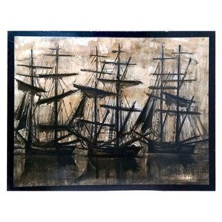 "Vintage ""De Sorte Skibe"" Bernard Buffet Lithograph"