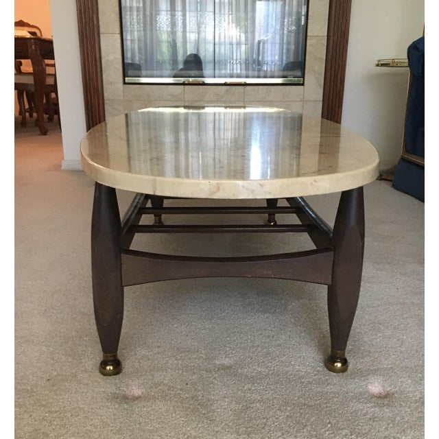Image of Mid-Century Marble Top Coffee Table