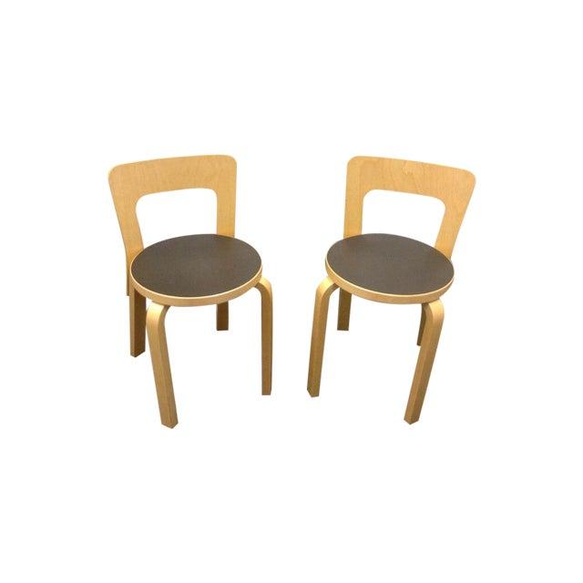 Artek Children's Chairs N65 - Pair - Image 1 of 5