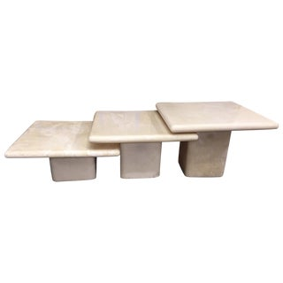 Nesting Resin Patio Table - Set of 3