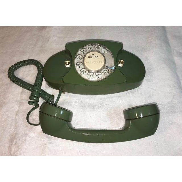 Vintage Pea Green Rotary Princess Phone - Image 5 of 8