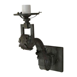 One Arm Bronze Gas Sconce