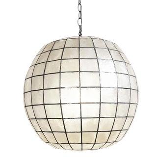 Capiz Shell Globe Lantern