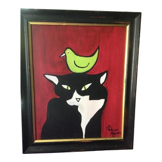 Embarrassed Kitty Original Painting