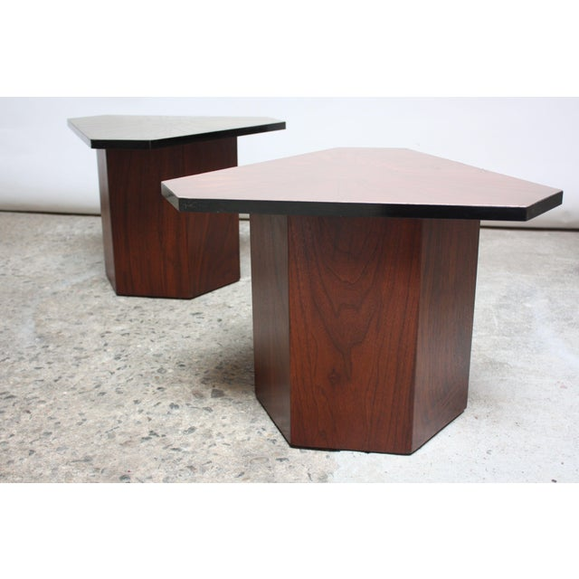 Pair of Italian Etched Copper and Brass Side Tables by G. Urso - Image 4 of 11