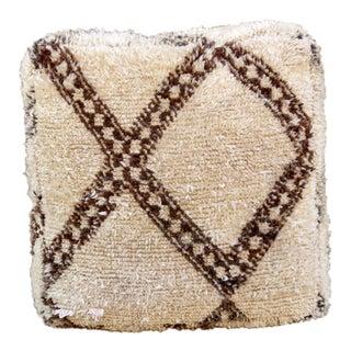 Moroccan Tan & Brown Floor Pillows