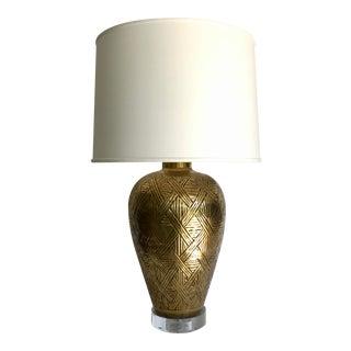 Vintage Chapman Brass Weave Lamp