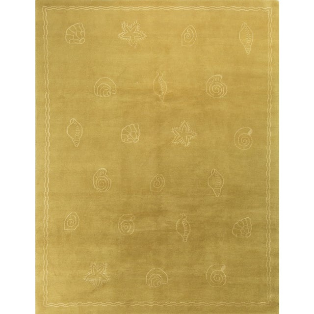 Nautical Hand-Knotted Wool Rug - 7′11″ × 10′1 - Image 1 of 4