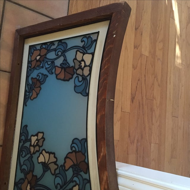 Image of Vintage Church Stained Glass Panel