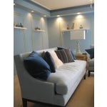 Image of Blue Microfiber Sofa