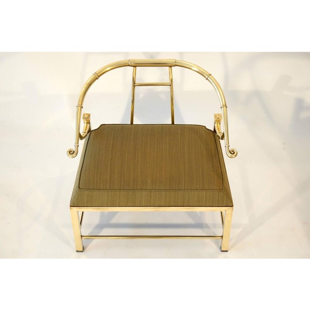Image of Pair of Brass Lounge Chairs by Mastercraft