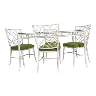 Faux Bamboo Patio Dining Set