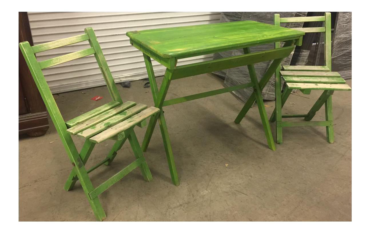 Folding Patio Table U0026 Chair Set