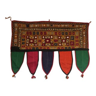 Indian Embroidered Mirror Valance