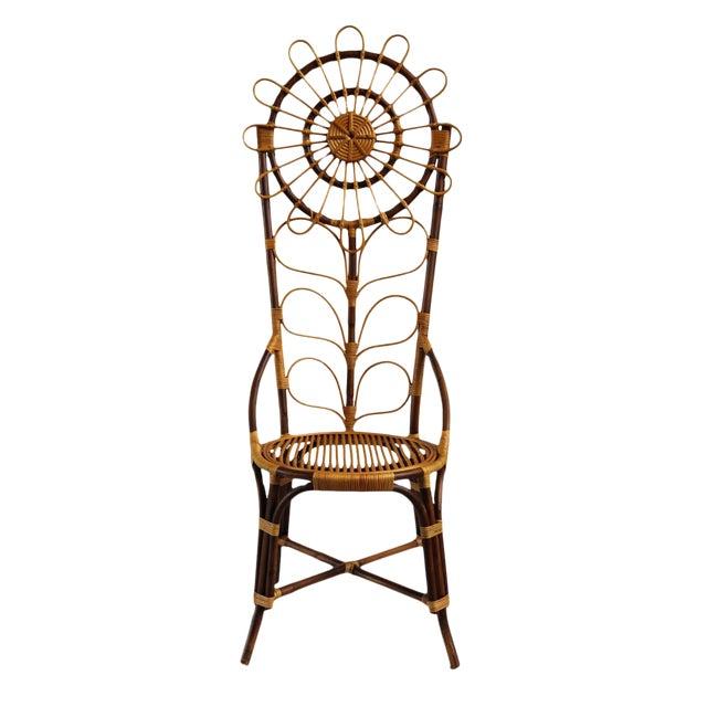 Tall Bamboo Sun Flower Chair - Image 8 of 8