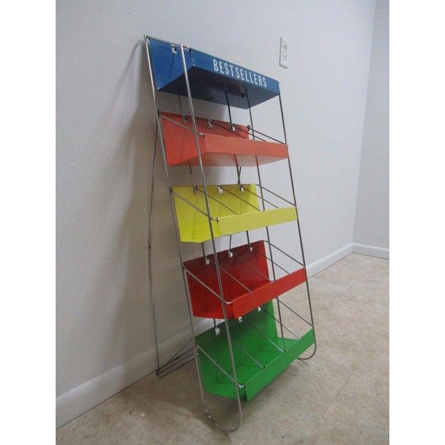 Vintage Chrome Multicolor Book Rack - Image 10 of 11