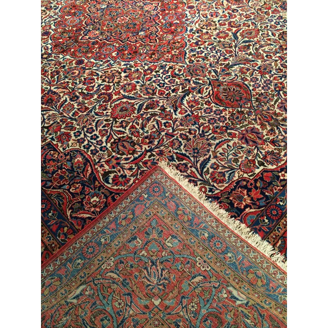 "Antique Persian Kashan Rug - 8'11"" X 11'7"" - Image 4 of 4"
