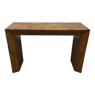 Hand Paneled Bamboo Console Table