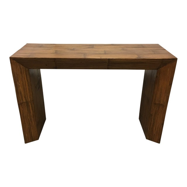 Image of Hand Paneled Bamboo Console Table