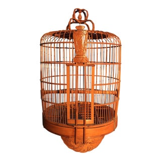 Wooden Carved Bird Cage