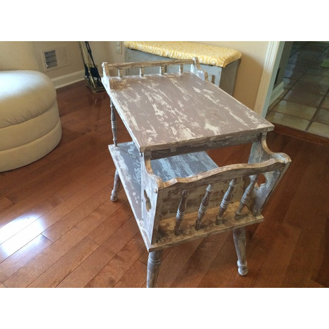 Image of Distressed Gray Magazine Side Table