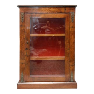 Antique Walnut Display or Music Cabinet
