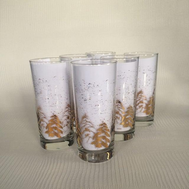 Vintage Dansk Gold Holiday Glasses - Set of 6 - Image 2 of 6