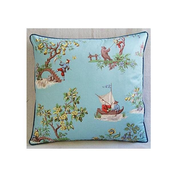Italian Scalamandre Chinoiserie Pillows - Pair - Image 6 of 9