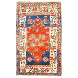 Wonderful 19th Century Turkish Yastik Rug
