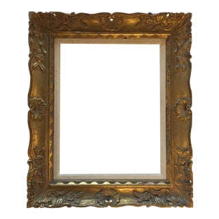 French Mid-Century Carved Gold Frame