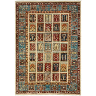 """Tribal Style Hand Knotted Area Rug - 4'10"""" X 7'"""