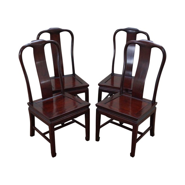 Chinese Rosewood Dining Chairs - Set of 4 - Image 1 of 10