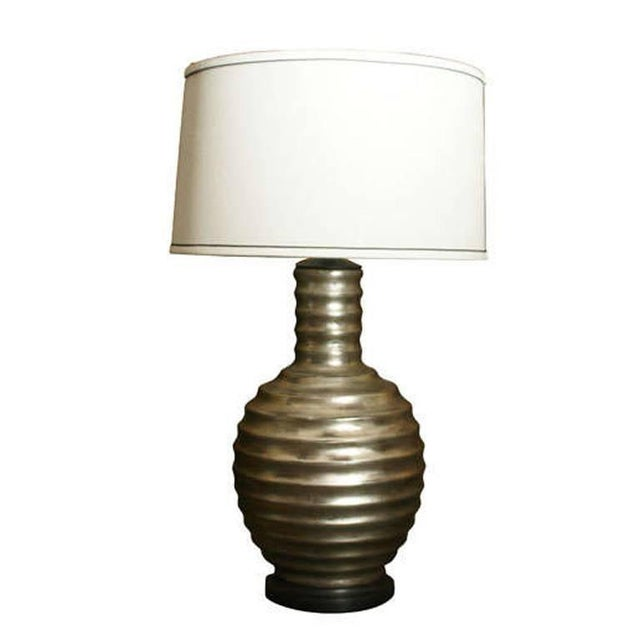 Image of One Silvered Bee Hive Lamp