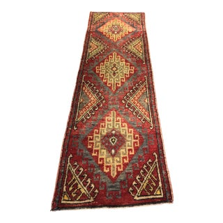 "Vintage Turkish Oushak Rug - 2'5""x7'9"""