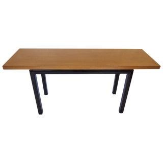 Mid-Century Flip Top Table with Ebonized Legs