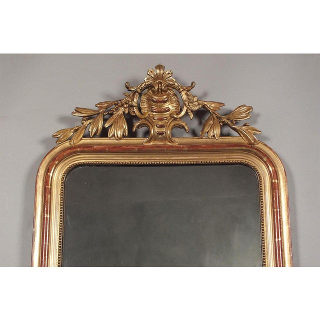 Antique French Louis XVI Giltwood Mirror - Image 5 of 9