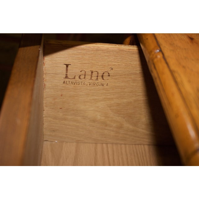 Mid-Century Faux-Bamboo Armoire by Lane Furniture - Image 3 of 8