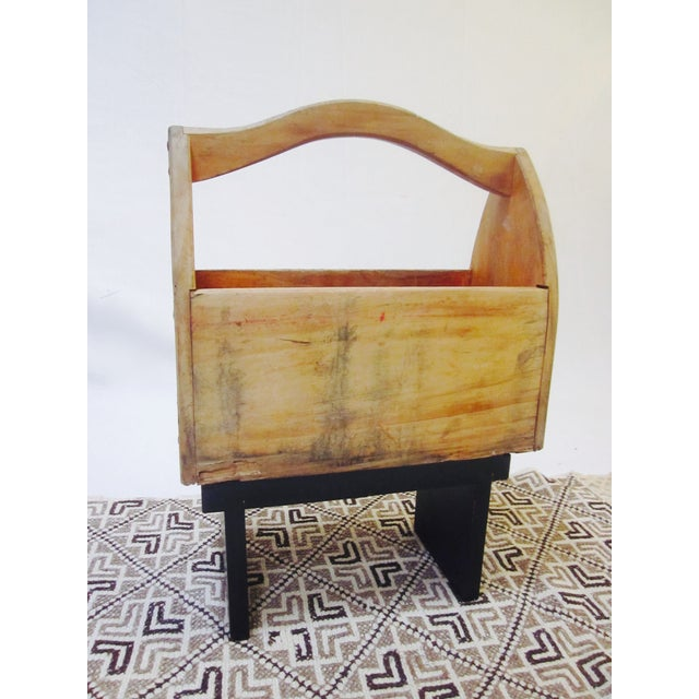 Image of Wooden Tool Box Carrier Caddy