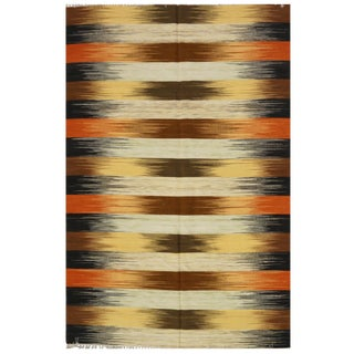 New Handmade Indian Kilim Rug - 6′1″ × 9′2″