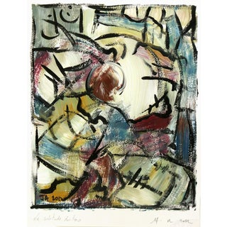 Original French Abstract Painting
