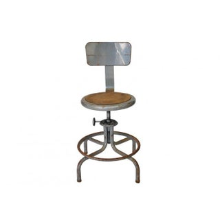 Industrial European Draftsmans Stool