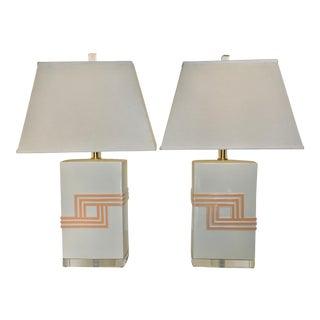 Vintage Bauer Ceramic Table Lamps - A Pair