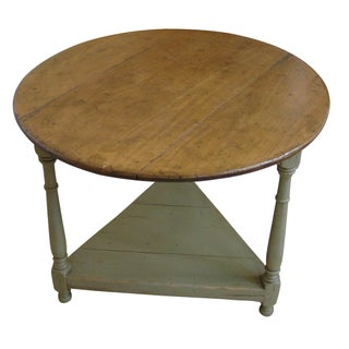 English Cricket Table in Sage Green