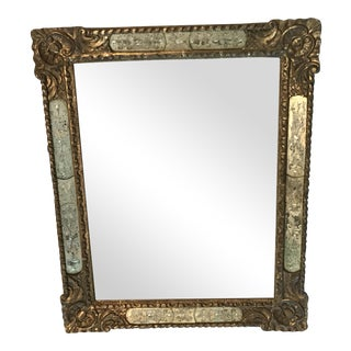 Julia Gray Mercury Etched Inset 22k Framed Mirror