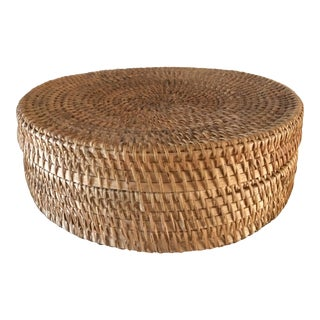 Vintage Woven Basket Container