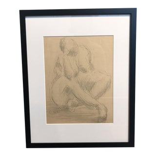 Framed Figurative Illustration Drawing