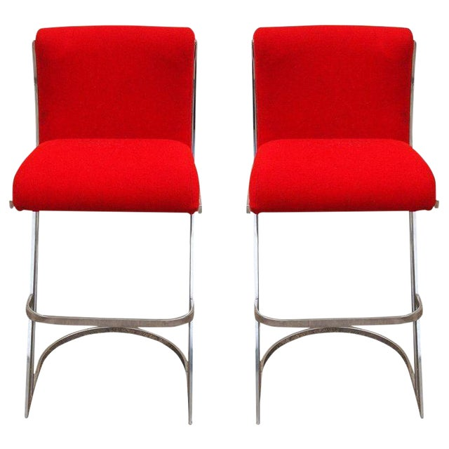 Pierre Cardin Attributed Bar Stools - A Pair - Image 1 of 2
