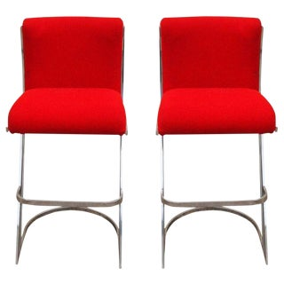 Pierre Cardin Attributed Bar Stools - A Pair